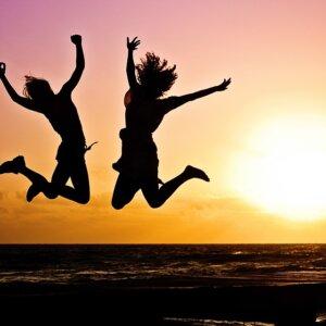 blije en energieke mensen